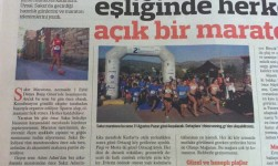 Άρθρο της HURRIYET για τον Ημι μαραθώνιο στη Χίο!